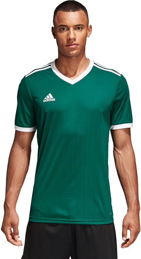 adidas Tabela 18 SS Jersey Teamshirt Heren Sportshirt Maat M Mannen groen
