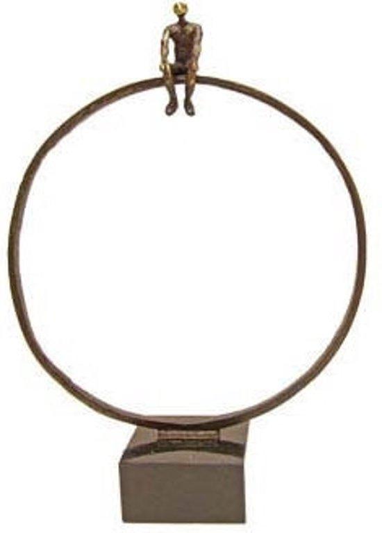 Bronzen beeldje - sculptuur - figuur - mindset