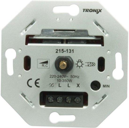 Tronix LED dimmer universeel 10-350W draaidrukdimmer