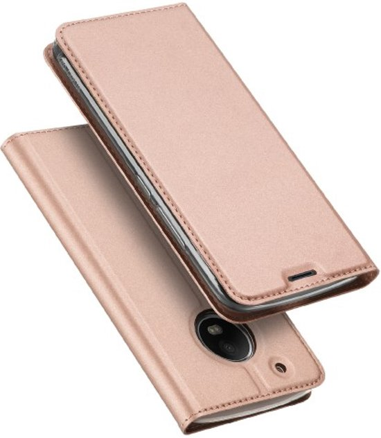 © Slim Folio Or Rosé Pour Motorola Moto, Plus G5