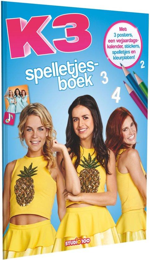 K3 Kleurplaten Spelletjes.K3 Spelletjesboek Pina Colada
