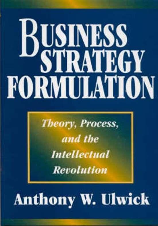 Business Strategy Formulation