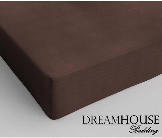 Dreamhouse Bedding - Hoeslaken - Katoen - 70x200 cm - Bruin
