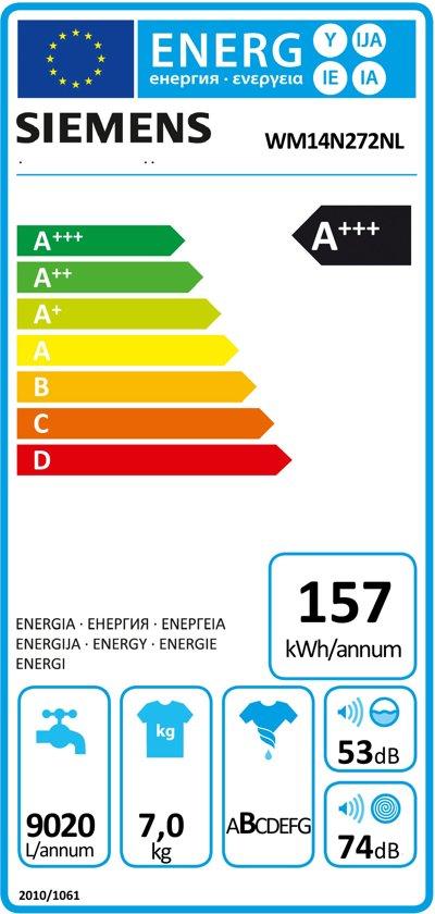Siemens WM14N272NL iSensoric