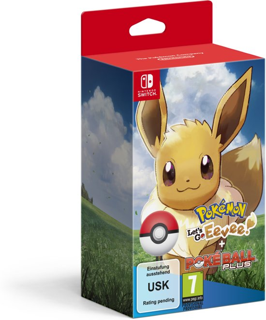 Pokemon Let's Go Eevee Switch + Poke Ball Plus Pack