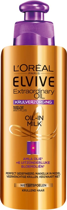 L'Oréal Paris Elvive Extraordinary Oil Krulverzorging Oil-In-Milk - 200ml - Leave-in Crème