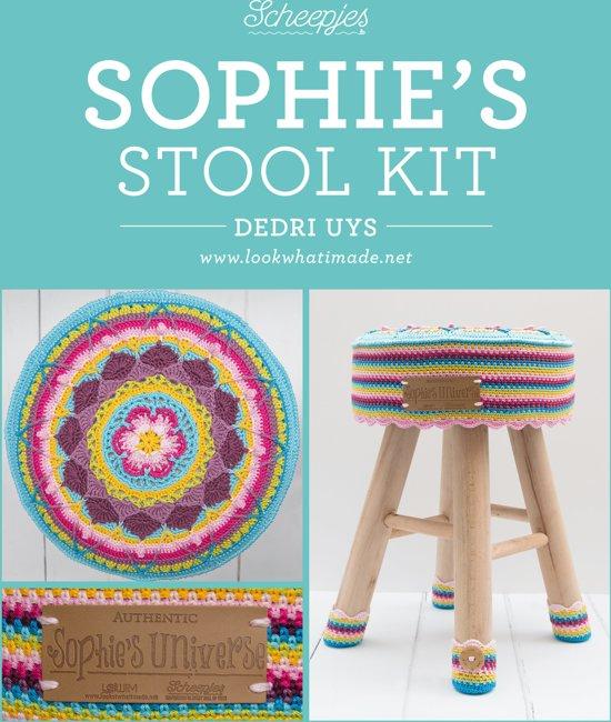Bolcom Sophies Stool Kit Het Beroemde Haakpatroon Nu Als Krukje