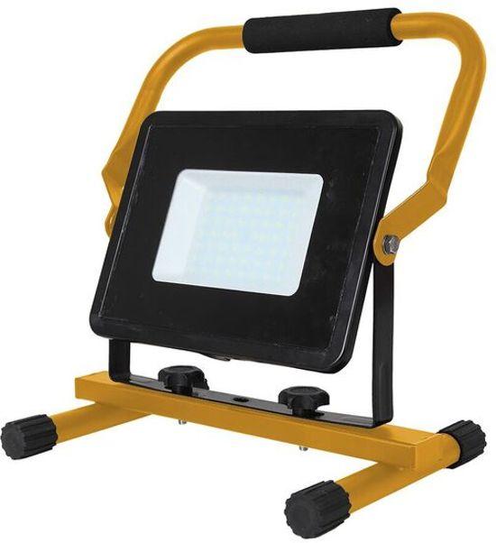 V-tac VT-4250 LED werkverlichting / bouwlamp - 50 W - 4250 Lumen - Zwart / geel - 6400K