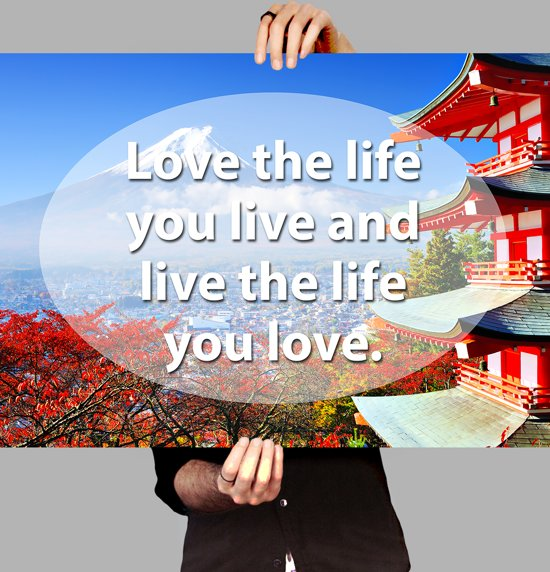 Bolcom Poster Life Quote Love Your Life