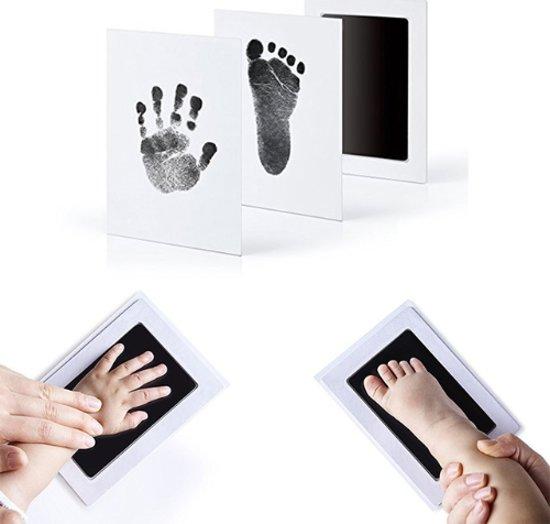 Baby voet- & handafdruk inkt set - zwart (Kraamkado)