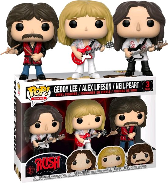 Pop Rush - Geddy, Alex, and Neil 3-Pack
