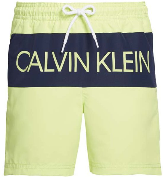 Calvin Klein jongens zwembroek medium drawstring - sharp green-140-152