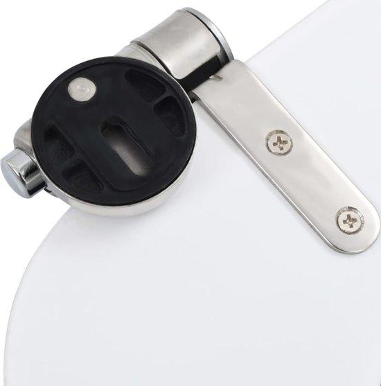 vidaXL Toiletbrillen 2 st met soft-close deksels MDF steenontwerp