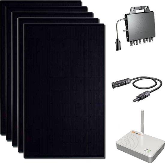 DMEGC  Zonnepanelen -  295 WP Ultra Black met Micro omvormers - 12 stuks