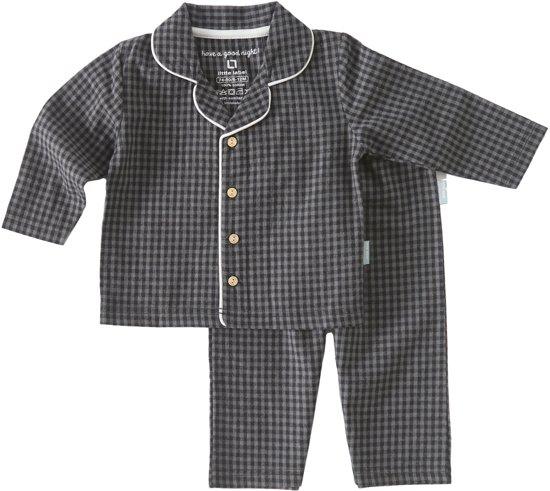 3557585e59d bol.com | Little Label Flanel baby pyjama - woven small black check