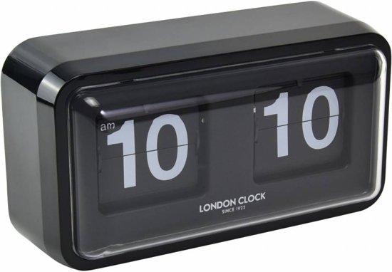 Karlsson Flip Klok : Bol london clock mantelklok flip klok zwart