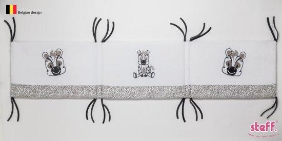 STEFF Zebra bedomrander voor zowel bed 60x120 en 70x140 cm