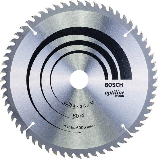Bosch Cirkelzaagblad Optiline Wood 254 x 30 x 2,8 mm - 60 tanden - geschikt voor alle merken