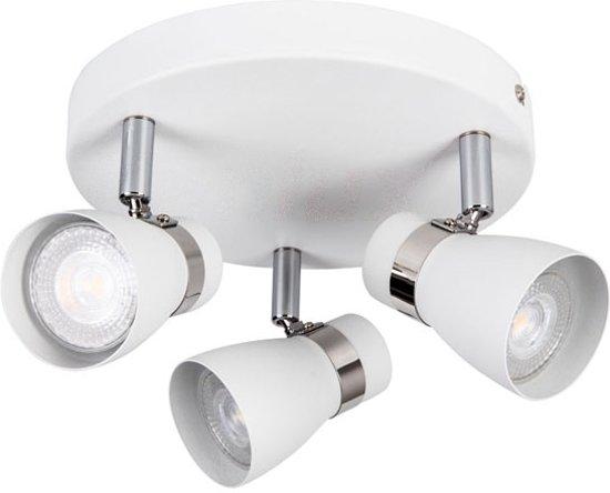 ENALI 3- rond - wandlamp - plafondlamp spot - incl LED - wit