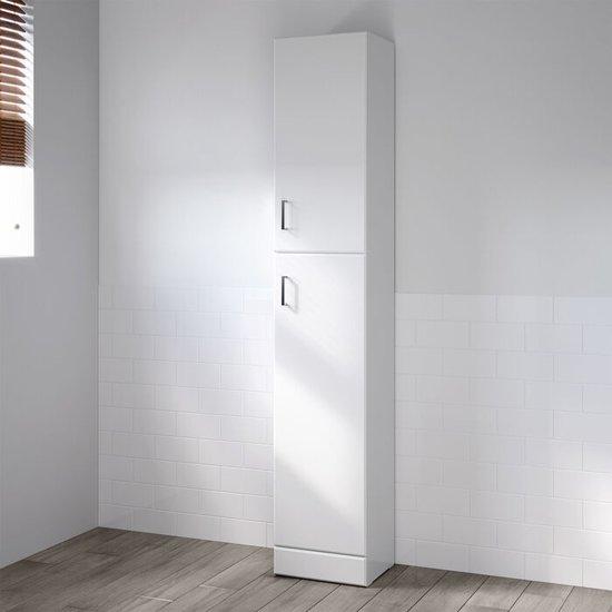 Badkamerkast Quartz Staand Wit Hoogglans - 190 x 35 cm