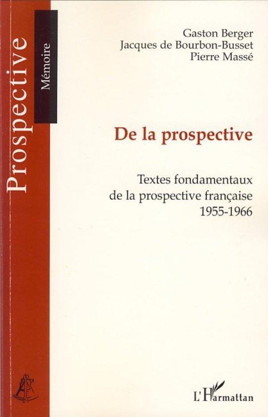 Boek cover De la prospective van _ Collectif (Onbekend)