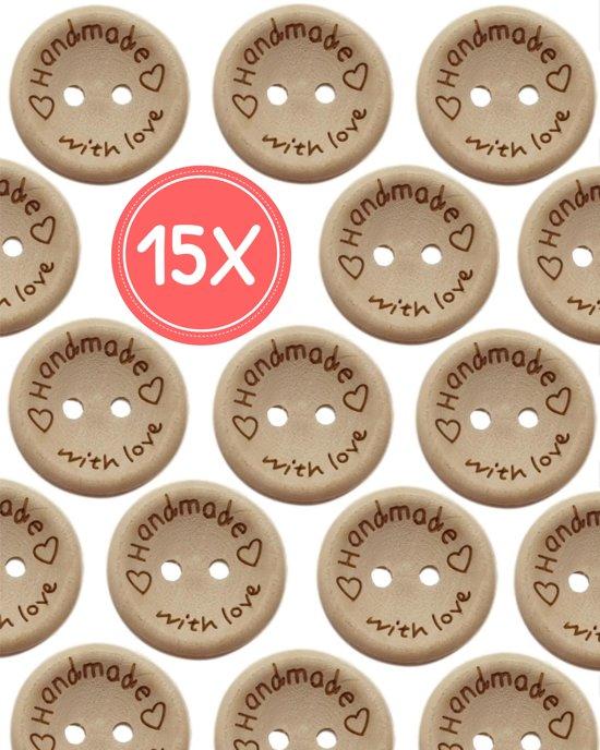 Houten Knopen 6 Cm.Bol Com Knopen 15 Stuks 10 Mm Handmade With Love