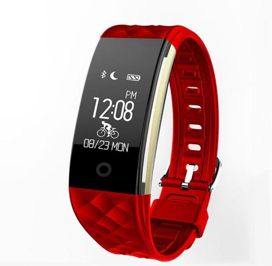 OPTIBLE-Activity tracker- Rood - hartslagmeter - Calorieteller - Stappenteller |-Hardloop horloge - Slaapmonitor