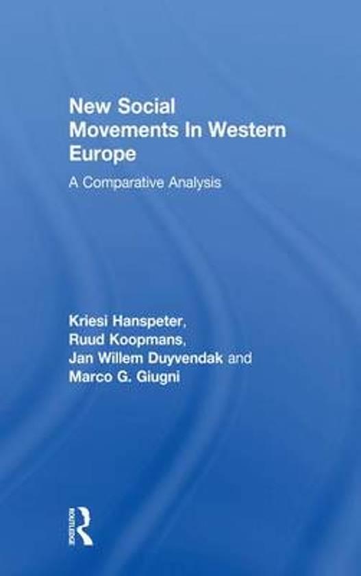 Boek cover New Social Movements In Western Europe van Kriesi Hanspeter (Onbekend)