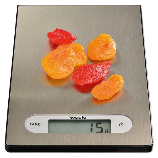 Exacta digitale keukenweeschaal Elegantia RVS