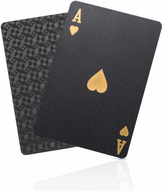 Afbeelding van Speelkaarten Waterdicht – Special Edition Pokerkaarten Goud/Zwart speelgoed