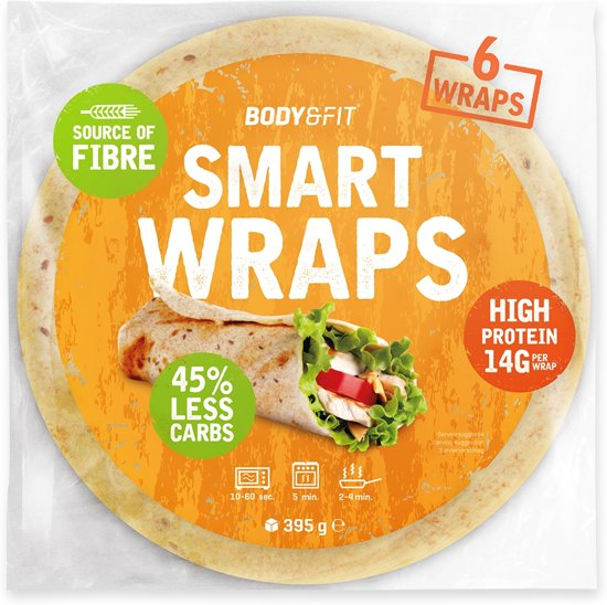 Body & Fit Smart Wraps - Minder Koolhydraten & Eiwitrijk - 1 pak - Original