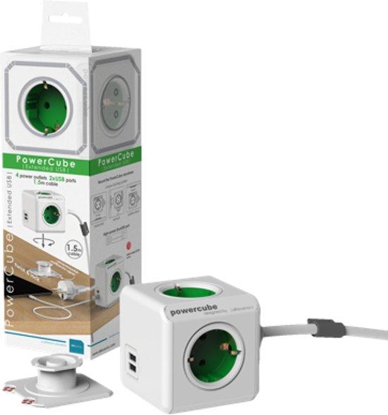 Geliefde bol.com | PowerCube Extended Duo USB stekkerdoos, 1.5m kabel, Wit QL74