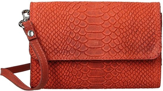0d8c783b69f bol.com | Duifhuizen Leather Collection schoudertas S orange