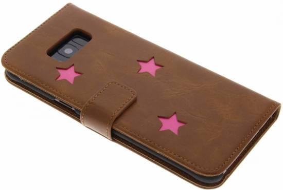 Brown Type De Livre D'affaires Cas De Tpu Pour Samsung Galaxy S8, Plus