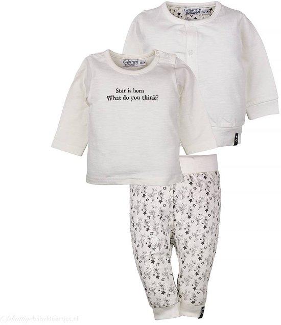 Babykleding Setjes.Bol Com Unisex Babykleding Setje So Fresh Star Is Born Off White