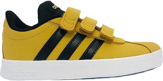 Gele adidas Sneakers VL Court 2.0 Kids Klittenband