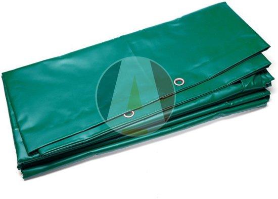 Groen PVC container afdekzeil 350x700cm 600gr/m²