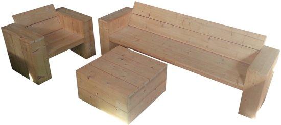 Loungeset van steigerhout for Bouwpakket steigerhout