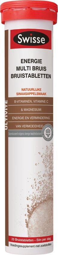 Swisse multivitaminen ENERGIE bruistabletten 20stuks - vitaminen