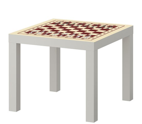 Glazen Tafeltjes Ikea.Bol Com Ikea Lack Tafeltje Met Schaakbord Print