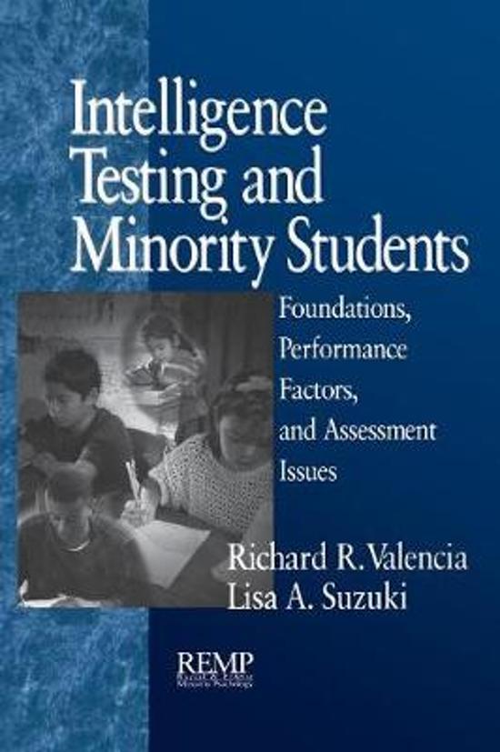 Intelligence Testing and Minority Students
