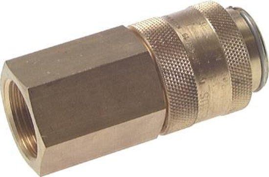 Messing DN 19 Luchtkoppeling Snelkoppeling G 1 inch Binnendraad - CLS19-F-B-SV-100