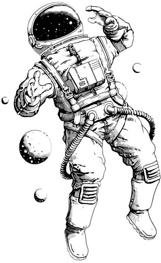 Kinderkamer poster - Astronaut poster ruimtevaart - Stoere kinderposter - A4
