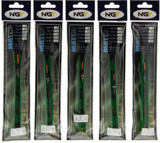 NGT Match Pole Rigs Matchtuigjes - 10 stuks