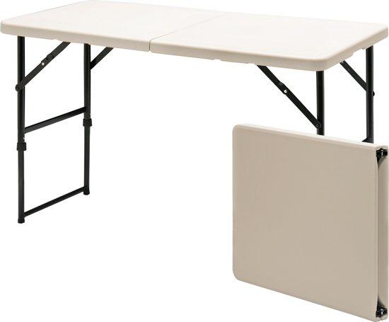 Blowmold klaptafel wit 60x122 cm vouwbaar tot koffer - Klaptafel ...