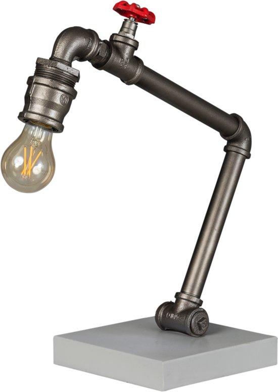 Tafellamp - Fire Hose - 44 cm - Vintage Zilver