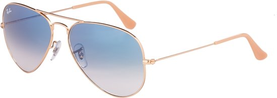 89186d21c37 Ray-Ban Aviator RB3025 001 3F Zonnebril - Gold Light Blue Gradient -