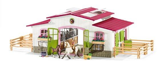 Schleich Horse Club -Manege met Ruiter en Paarden - 42344 - Speelfigurenset - 83 x 26  x 39 cm