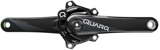 Crankstel quarq powermeter dzero red 110 hidden bolt gxp 175 aluminum - ZWART