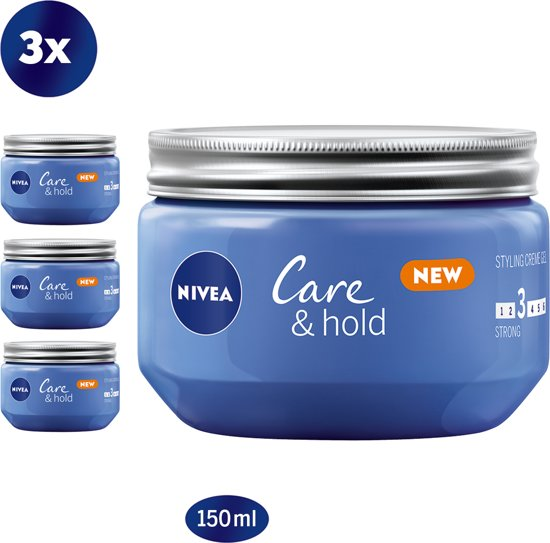 NIVEA Care & Hold Styling Crème Gel - 3 x 150 ml